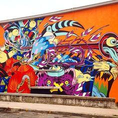 Bicicleta Sem Freio (BSF) _ Mural for Just Kid Euro Tour _ Gaeta, Italy