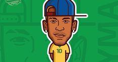 Neymar Jr Neymar Neymarjr Football Barcelona How To Draw Neymar Cartoon Step By Step Drawing. Cartoon Posters, Cartoon Pics, Cartoon Styles, Cartoon Drawings, My Drawings, Cartoon Picture, Soccer Art, Football Art, Neymar Football