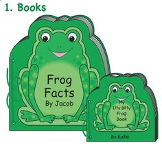 Its National Frog Month! Creative Shapes Etc has great #frog projects for in and out of the classroom! Make a frog book!