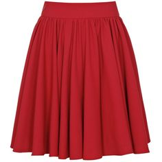 Reiss Gathered Skirt , Red found on Polyvore