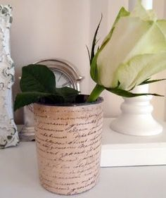 Stylish Settings: Recycling a Candle Jar