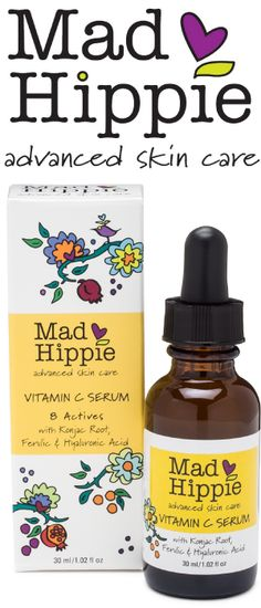 Mad Hippie Advance Skin Care Vitamin C Serum Brighten, tighten & smooth your skin, naturally! Our award-winning vitamin C serum is formulated to both heal & prevent sun damage - the cause of of skin aging. Skin Care Regimen, Skin Care Tips, Beauty Regimen, Organic Skin Care, Natural Skin Care, Natural Face, Natural Oils, Natural Beauty, Gesicht Mapping