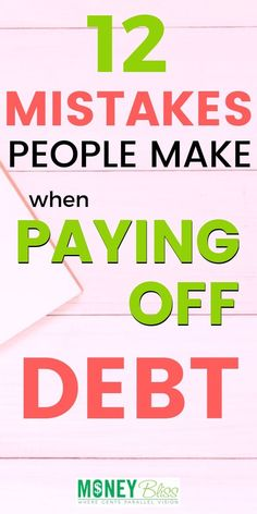 Paying off debt may sound simple enough. But, don't fall victim to one of these .Paying off debt may sound simple enough. But, don't fall victim to one of these common debt payoff mistakes. Get printables, worksheets, and motivation tips on ho Debt Repayment, Debt Payoff, Debt Consolidation, Dave Ramsey, Credit Card Interest, Paying Off Credit Cards, Budgeting Tips, Budgeting Finances, How To Plan