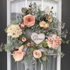 Excited to share the latest addition to my #etsy shop: Vintage Complementary Love Wreath- Everyday Wreath- Front Door Wreath- Floral Wreath- Mantel Wreath- https://etsy.me/2Jzsf4C #housewares #homedecor #pink #housewarming #green #frontdoorwreath #floralwreath