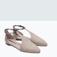 Image 6 of ANKLE-STRAP FLATS from Zara