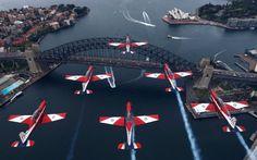 RAAF Roulettes - PC-9s over Sydney Harbour