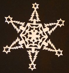 I have been making paper snowflakes for the past 40 years. I have put together a tutorial for folding and cutting and patterns for 20 different snowflakes. This PDF file gives instructions and full sized patterns to make 20 snowflakes. You can use your imagination and make your own design with the same methods. The patterns call for 9 inch square paper . There are a variety of patterns included ranging from simple to difficult.