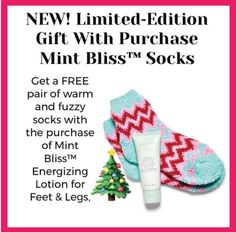 Get these fluffy socks when you purchase Mint Bliss Energizing Lotion Holiday Gift Tags, Christmas Gifts, Christmas Ideas, Selling Mary Kay, Mary Kay Party, Beauty Consultant, Holiday Sales, Fluffy Socks, Cozy Socks