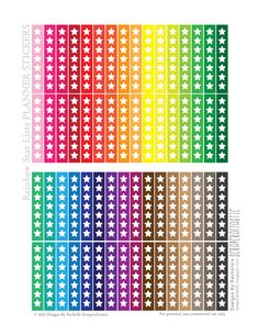ScrapCraftastic: Rainbow Star Lists FREE Printable Planner Stickers