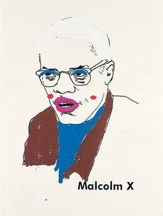 Glenn Ligon (b. 1960), Malcolm X (Version 1) #1, 2000. Vinyl-based paint, silkscreen ink, and gesso on canvas, 96 × 72 in. (243.8 × 182.9 cm). Collection of Michael and Lise Evans. © Glenn Ligon