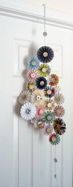 Paper rosette decoration.  I enjoy making rosettes for cards and  can see it as framed art too