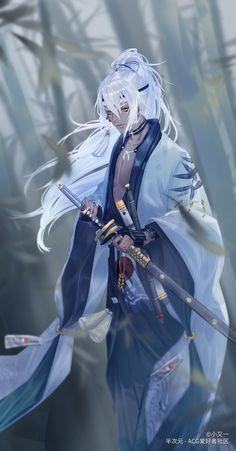 Character Portraits, Character Art, Character Design, Black Characters, Anime Characters, Anime Kimono, Alucard, Handsome Anime Guys, Bishounen