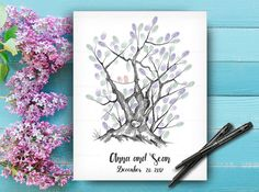 Fingerprint Wedding Trees are the perfect reminder of the strong roots and origins that make your special day unique. Wedding Trees, Wedding Tree Guest Book, Guest Book Tree, Fingerprint Wedding, Fingerprint Tree, Wedding Posters, Wedding Guest Book Alternatives, Wedding Keepsakes, Guestbook