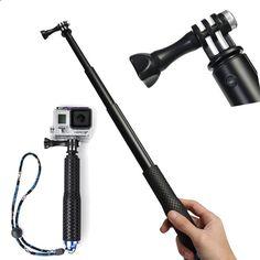 36 inch Self Selfie Stick Pole Extendable Handheld Monopod Telescoping Tripod for Gopro Hero 4 3  3 2 sj4000 Sport Camera
