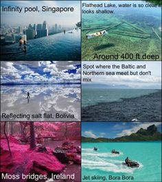 I want to go to all these places!