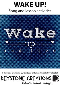Wake Up!'  (K-6) is a values-based, curriculum song for middle/upper primary.  It not only highlights the importance of making responsible choices and being grateful for what we have, it also helps students to develop empathy, compassion, and consideration for others.  This song-based teaching resource contains materials that integrate learning across key areas of school curriculum.  Package download includes:  Mp3 Vocal Track  PDF Lyrics    PDF Learning & Values Outcomes; Suggested…