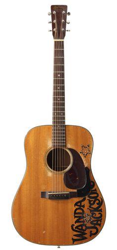 Wanda Jackson's Martin D-18 acoustic guitar