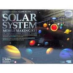 4M, 3-D Glow in the Dark, Solar System Mobile Making Kit
