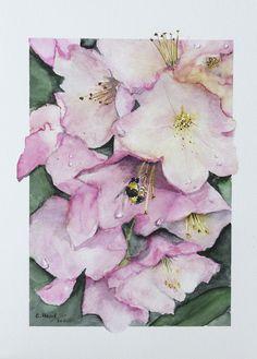 Watercolour Watercolour, Pink, Painting, Art, Watercolor, Watercolor Painting, Painting Art, Paintings, Kunst