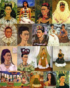 collage de pinturas de frida kahlo - Buscar con Google