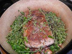 Serbian garlic pork roast