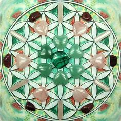 Good Morning Loves!! This is a grid I created for the Heart Chakra. This grid includes Malachite, Green Aventurine, Rose Quartz, and Ruby. T...