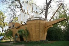 wooden ships boats as playhouses - Google Search