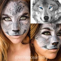 Wolf makeup for Halloween #halloweencostumekids