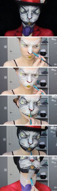 Alice - Madness Returns White Rabbit Makeup Tutorial | Click Pic for 22 Easy DIY Halloween Costumes for Women 2014 | Last Minute Halloween Costumes for Women