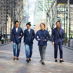 Blue squad Each blue... ・ ・ Ph. @mal3pir21_photo ・ ・ #beams #beamsf #menswear #menswearclothing #mensstyle #mensstreetstyle #dapper #dappermen #gentleman #gentlemen #vintage #vintagestyle #vintagewear #mensfashion #mensclothing #menwithclass #menwithstyle #ootd #outfit