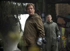 "This image released by Warner Bros. Pictures shows Bryan Cranston, left, and Aaron Taylor-Johnson in a scene from ""Godzilla."" (AP Photo/Warner Bros. Pictures, Kimberley French)"