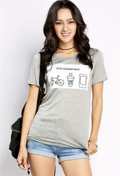 City Essentials Graphic Top | Shop Graphic Tops at Papaya Clothing