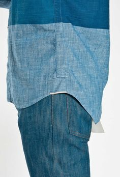 Chambray shirt from Folk #DEEP #BLUE