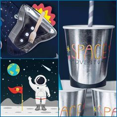 Space Adventure Tableware Party Pack for 6 guests Tableware essentials party kit All the essential party tableware you will need for an out of this World space Party Kit, Party Packs, Party Ideas, Paper Napkins, Paper Plates, Girl Party Foods, Sweet Cones, Party Themes For Boys, Party Venues