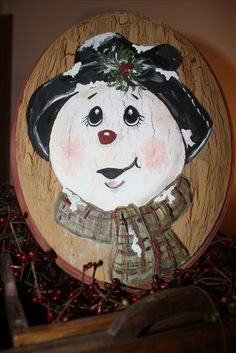 "of my most popular pieces is the ""aged"" snowman!One of my most popular pieces is the ""aged"" snowman! Christmas Wood Crafts, Christmas Rock, Snowman Crafts, Christmas Signs, Christmas Snowman, Christmas Projects, Winter Christmas, Holiday Crafts, Christmas Decorations"