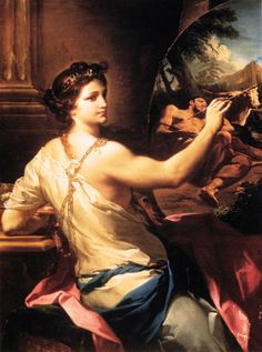 Corrado Giaquinto (Italian 1703–1756) [Baroque, Rococco] Allegory of Painting, 1750. Museum of Fine Arts, Budapest. – The Athenaeum