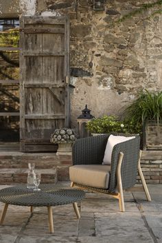 75253a61f2d9 Rustic charm ,contemporary design - Point's Round collection of garden  furniture and accesssories. #Point #gardenfurniture www.gomodern.co.uk