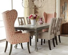 Easy On The Eye Shabby Chic Dining Room With Mixed Dining Chairs: Formal Dining Room Chairs Sets For Inspirations. Mixed Dining Chairs, Dining Room Chairs, Dining Room Furniture, Dining Rooms, Dining Tables, Kitchen Dining, Dining Sets, Small Dining, Kitchen Chairs
