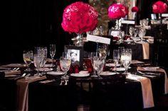 old Hollywood wedding table