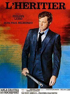"""affiche film jean-paul belmondo - l""""heritier"""