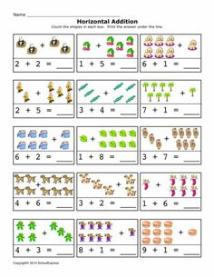 FREE worksheets, create your own worksheets, games. Preschool Writing, Preschool Learning Activities, Preschool Printables, Preschool Worksheets, Free Worksheets, Kindergarten Addition Worksheets, First Grade Math Worksheets, Math For Kids, Fun Math
