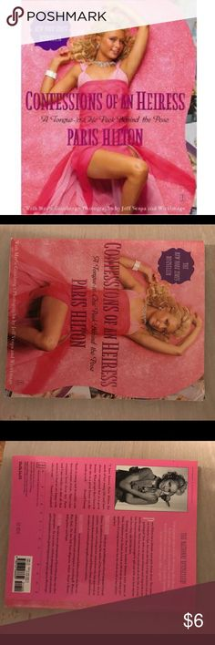 Paris Hilton confessions of An Heiress book Minor wear to the edges, perfect condition otherwise. 🌼Thank you for looking!  🌼I ship within 2 days shipping excluding holidays 🌼I do not trade! 🌼I only accept offers through the offer button! 🌼Thank you for shopping and feel free to ask any questions! Paris Hilton Accessories