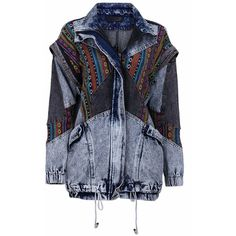 Chaqueta vaquera ❤ liked on Polyvore featuring jackets, outerwear, denim and tops