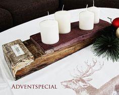 Adventsdeko aus Weinfass - Adventskranz mal anders. Ein Unikat aus Weinfassdauben zaubert Adventsstimmung in Dein Zuhause...erhältlich bei www.tafelfein.de #Adventsdeko #Adventskranz #Weihnachtsdeko #Weihnachten #xmas #unikat