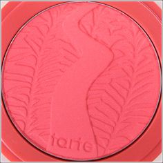"""Tarte Blissful Amazonian Clay Blush..Is described as a """"warm peach,"""" but it's more like an intense coral-pink on me!"""