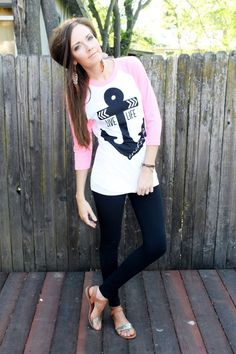 @printedpalette anchor top + leggings