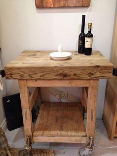Solid oak butcher's block in Home, Furniture & DIY, Furniture, Kitchen Islands & Carts | eBay