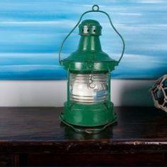 Vintage Boat Lantern- Green