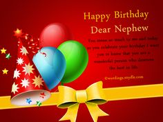 Nephew Birthday Messages Happy Birthday Wishes for Nephew Wordings and Messages Birthday Greetings For Nephew, Birthday Message For Nephew, Happy Birthday Nephew Quotes, Happy Birthday Clip Art, Happy Belated Birthday, Happy Birthday Pictures, Happy Birthday Messages, Birthday Cards, Birthday Verses