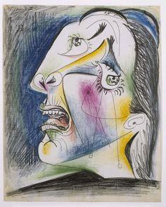Picasso, Pablo (Pablo Ruiz Picasso): Cabeza llorando (V). Postscripto de «Guernica»
